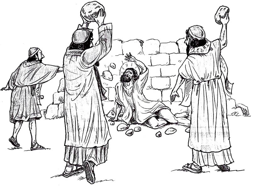 bible coloring pages stephen - photo#1